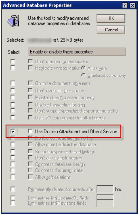 DAOS Feature in Notes Domino 8.5