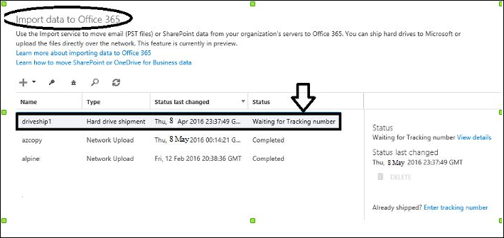 Use Drive Shipping Method to Import Organization's PST Files to Office 365