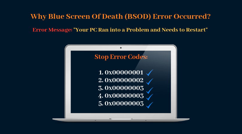 Why Blue Screen of Death Error Appears