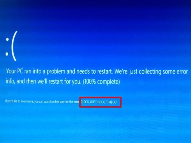 Why is blue screen of death Blue Error in Windows 8