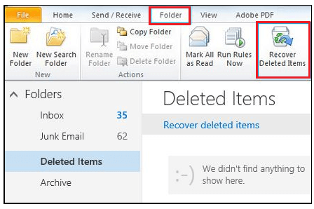 first step to retrieve permanently deleted items