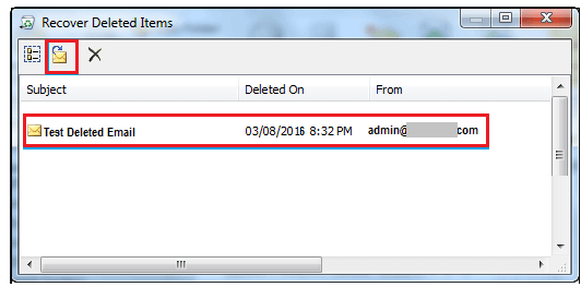 second step to retrieve permanently deleted items