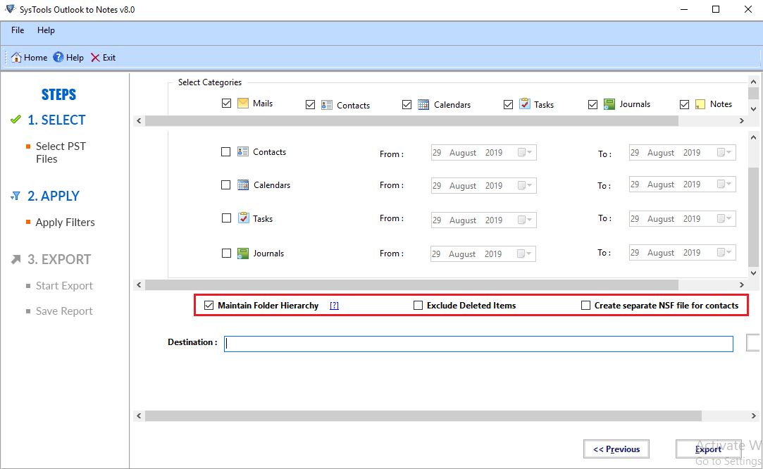 migrate pst to nsf
