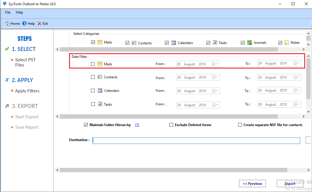 convert outlook data file to nsf