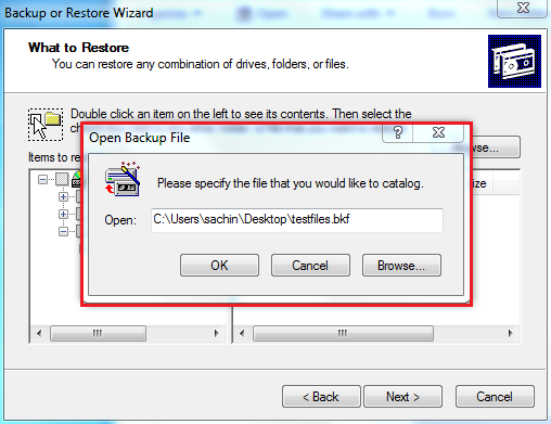 Browse Windows backup BKF