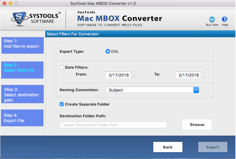 scanning of mbox file before conversion