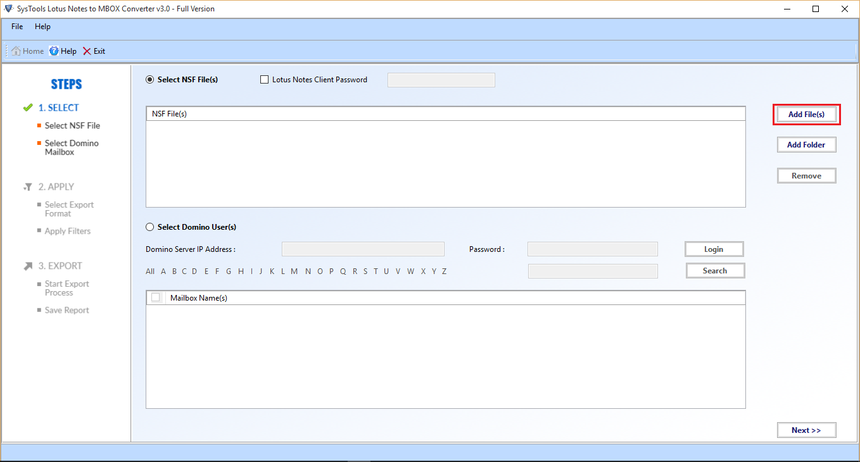 Add File / Folder